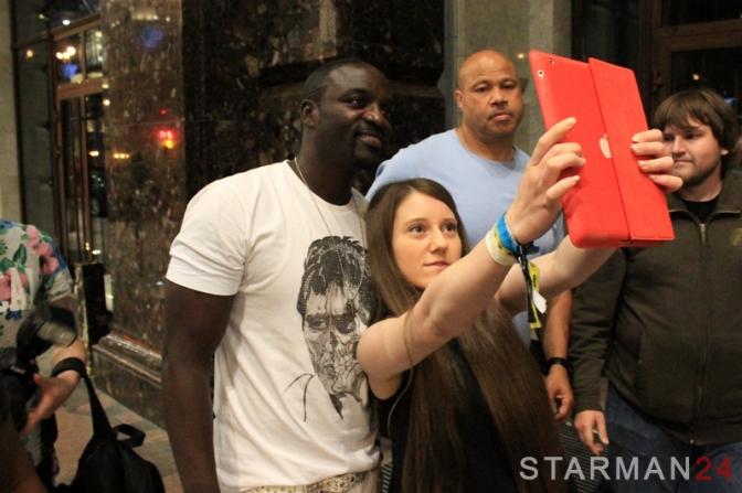 Akon погулял по Москве