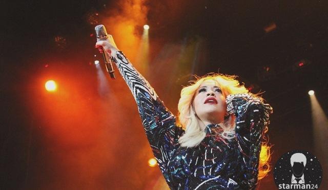 Рита Ора впервые выступила в Москве