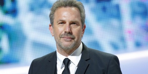 U.S. actor Kevin Costner reacts on stage after receiving a Cesar award of honor during the the 38th Cesar Film Awards at Theatre du Chatelet in Paris, France, Friday, Feb. 22, 2013. (AP Photo/Jacques Brinon)