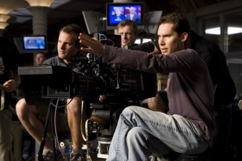Director BRYAN SINGER lines up a shot on the set of Warner Bros. Pictures' and Legendary Pictures' action adventure Superman Returns.