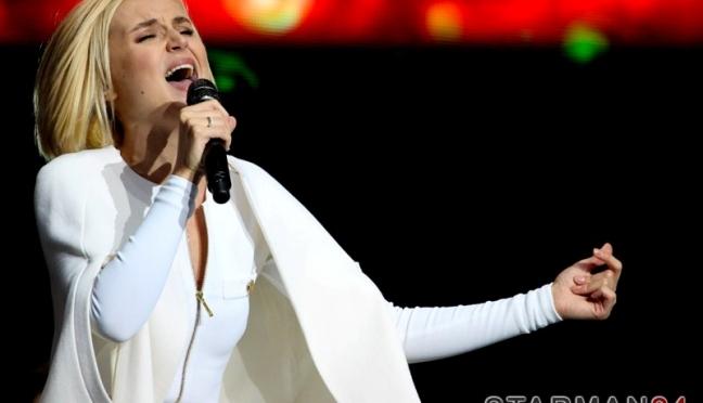 Полина Гагарина выступила в День города