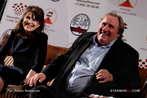 Fanny Ardant and Gerard Depardieu / Music for Two / Moscow, 2015