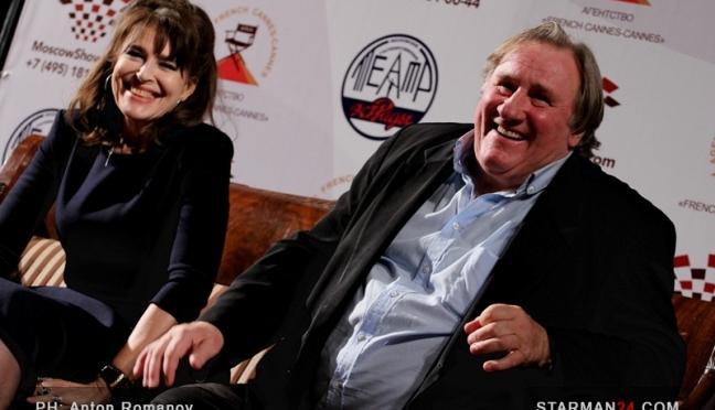 Жерар Депардье и Фанни Ардан представили в Москве «Музыку для двоих»