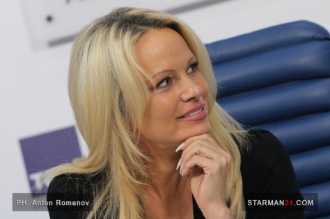 Pamela Anderson in Moscow / 07.12.2015
