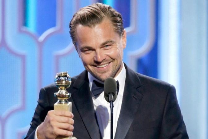 Леонардо ДиКаприо получил «Золотой Глобус» за «Выжившего»