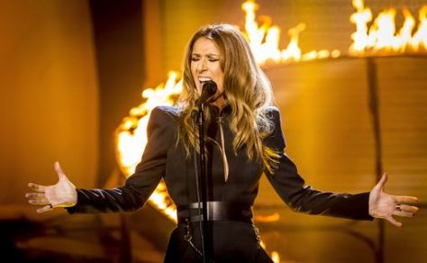 Celine-Dion-performs-on-The-X-Factor-TV-show