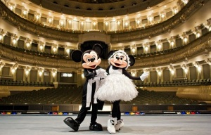 Nutcracker ballet show in Moscow Bolshoy Theatre sponsored by Disney for children who are in need and disable.