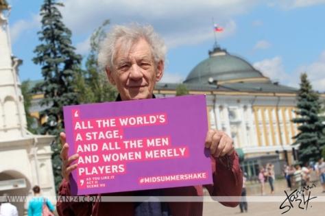 Sir Ian McKellen in Moscow Kremlin / 22.06.2016