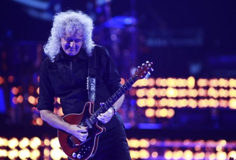 Brian May performs during the iHeartRadio Music Festival in Las Vegas