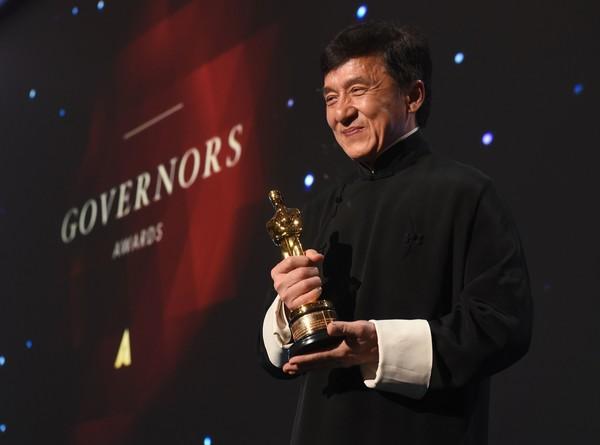 Джеки Чан забрал свой почетный «Оскар»