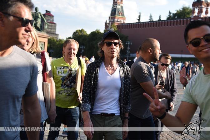 Мик Джаггер посетил Красную площадь