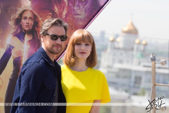 Джеймс МакЭвой и Джессика Честейн привезли новых «Людей Икс» в Москву